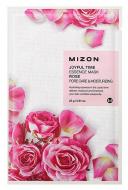 Тканевая маска с лепестками розы MIZON Joyful Time Essence Mask Rose: фото