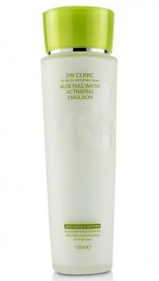 Эмульсия для лица увлажняющая с алоэ вера 3W CLINIC Aloe full water activating emulsion 150мл: фото